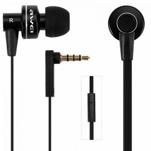 AWEI ES900i Wired Earphones Black