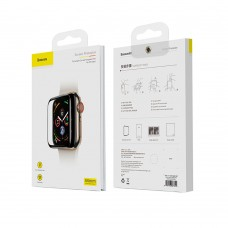Защитное стекло Baseus 0.3mm Full Screen Curved Tempered Glass Black для Apple Watch 40 mm SE | 6 | 5 | 4