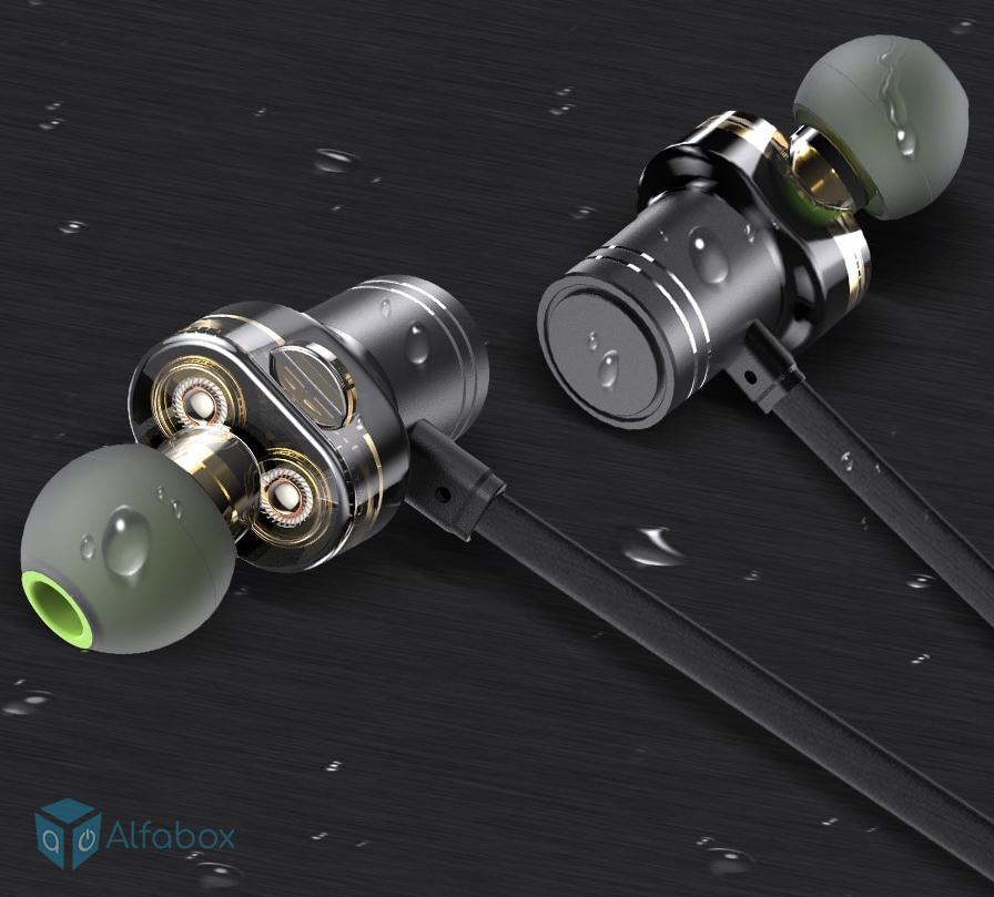 Купить беспроводные наушники AWEI X670BL Bluetooth Dual Driver Earphone Black