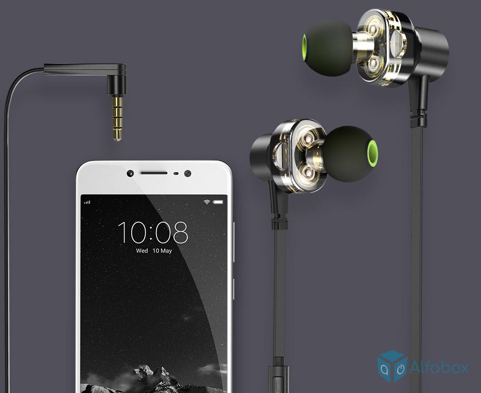 AWEI Z1 Wired Earphones Black купить