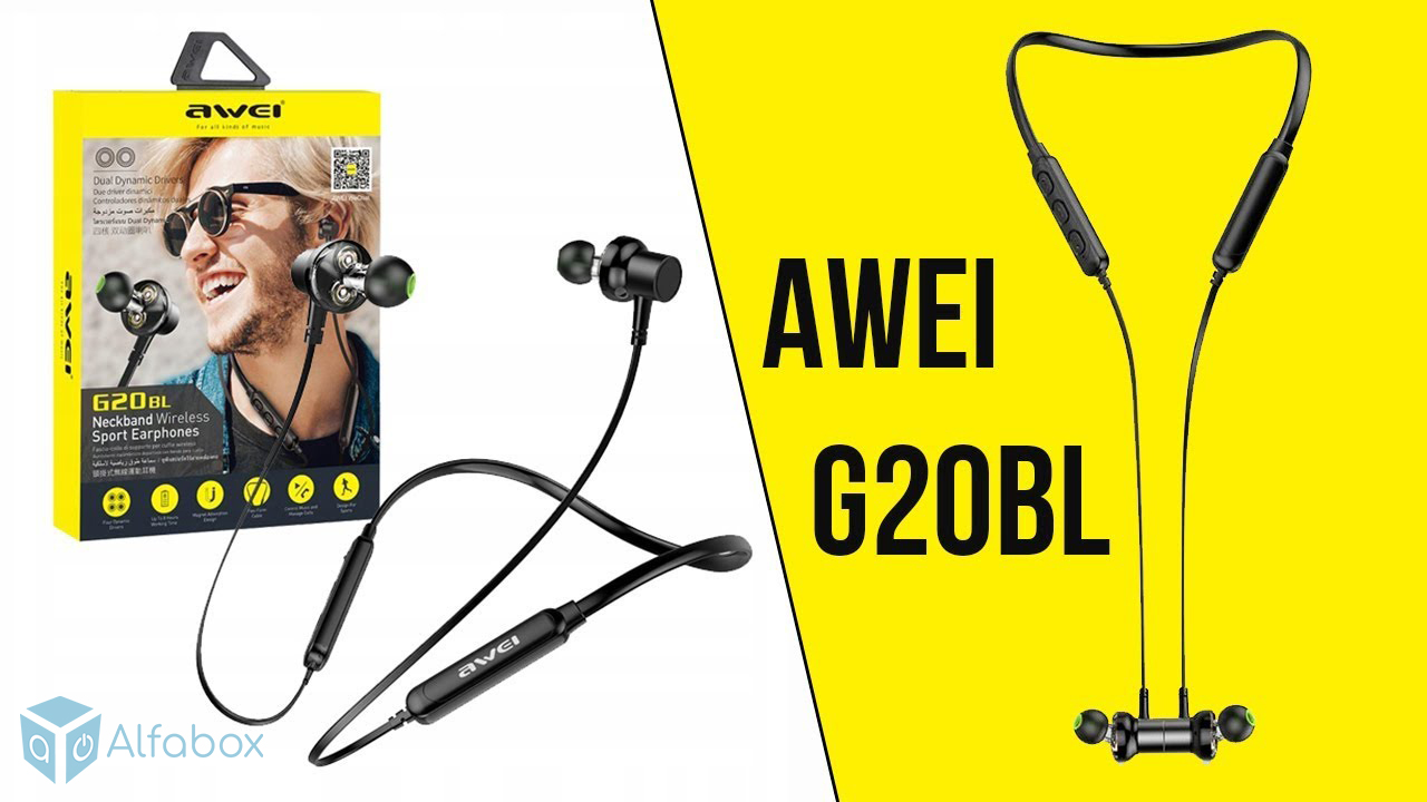 купить наушники AWEI G20BL Bluetooth Earphones Black