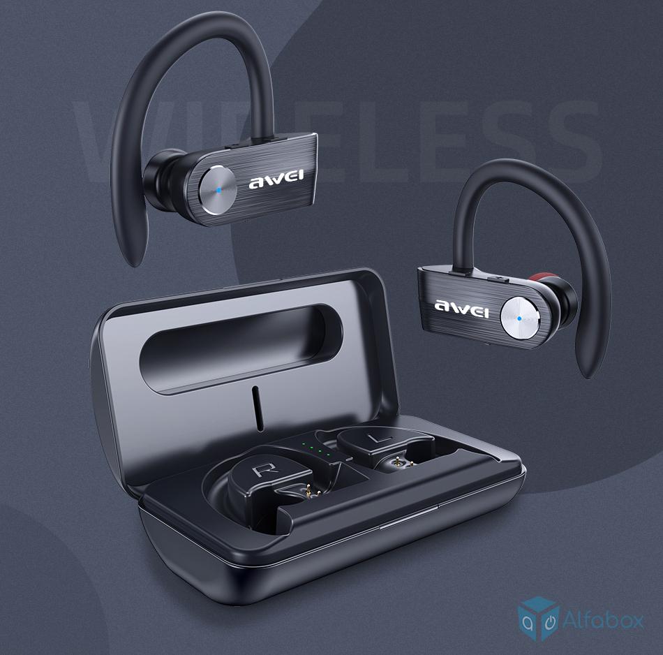 Беспроводные наушники AWEI T22 Black купить