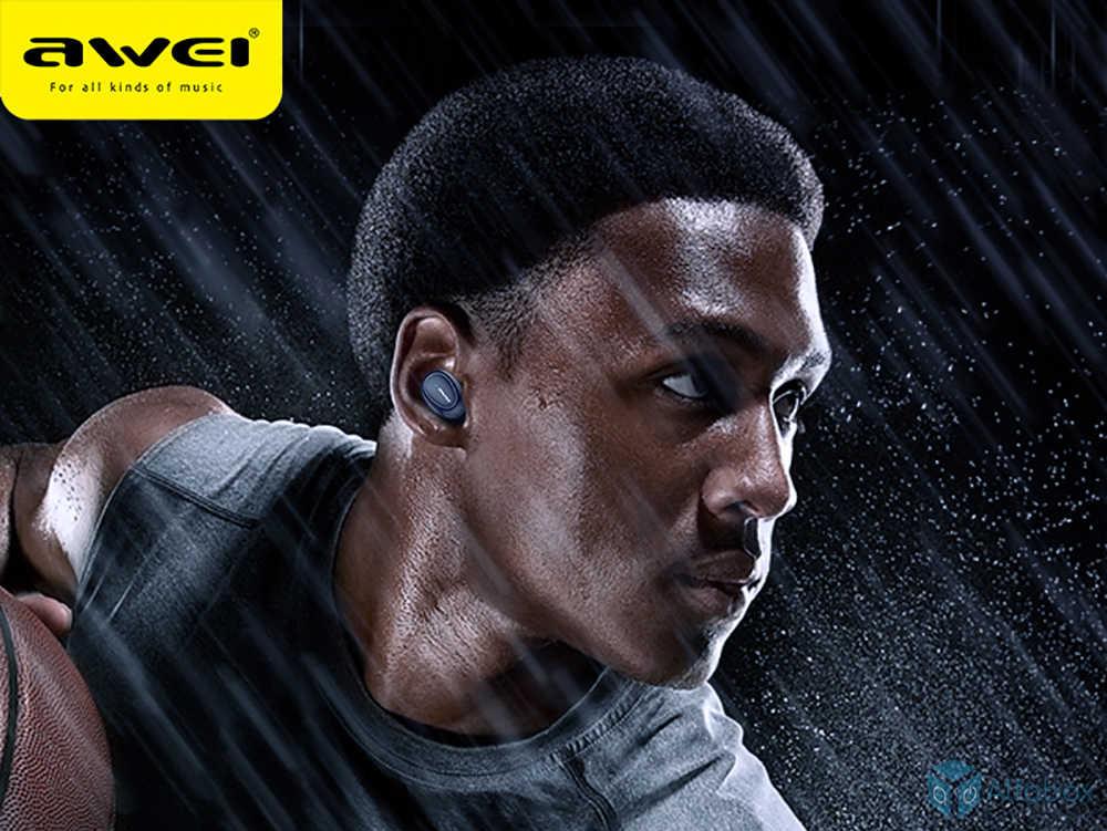 купить беспроводные наушники AWEI T16 TWS Bluetooth Earphones Black