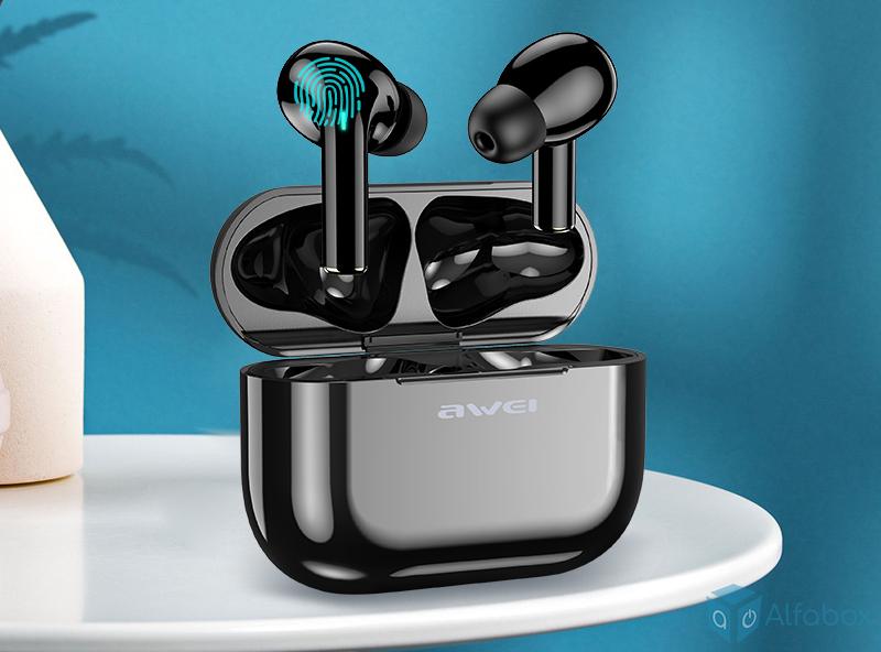 Беспроводные наушники AWEI T29 TWS Active Noise Canceling Sports Mic Bluetooth Black купить