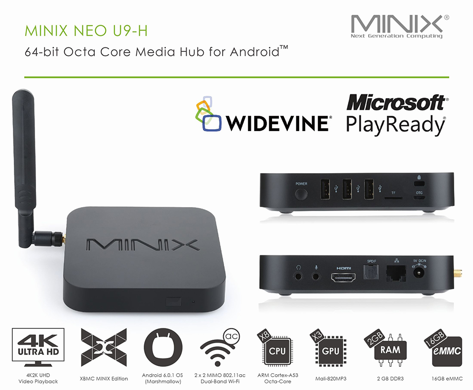 Купить MINIX NEO U9 H