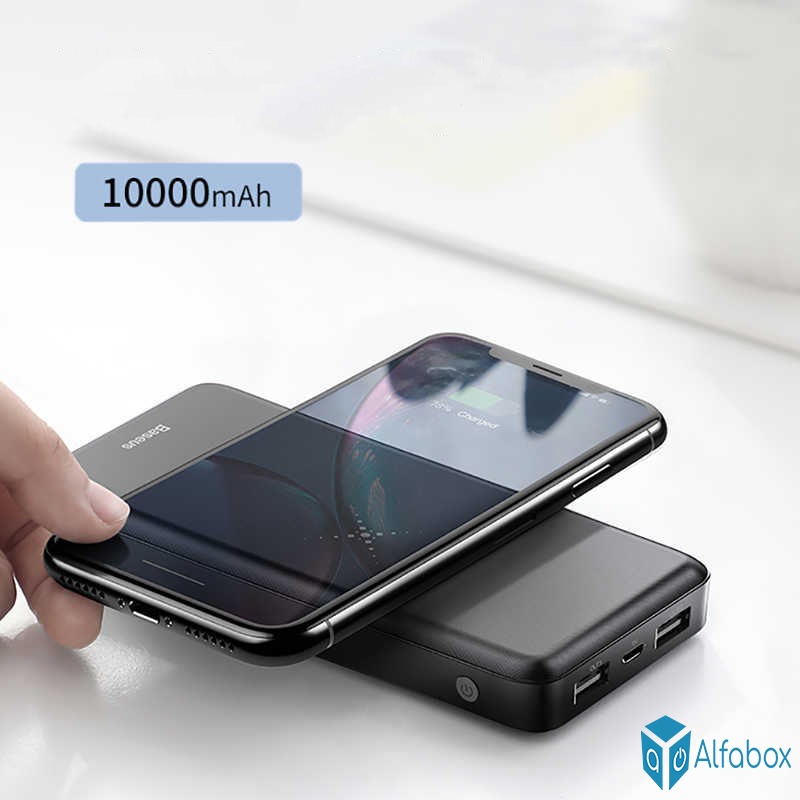 Power Bank Baseus M36 Wireless Charger Power Bank 10000mAh Black (PPALL-M3601) купить
