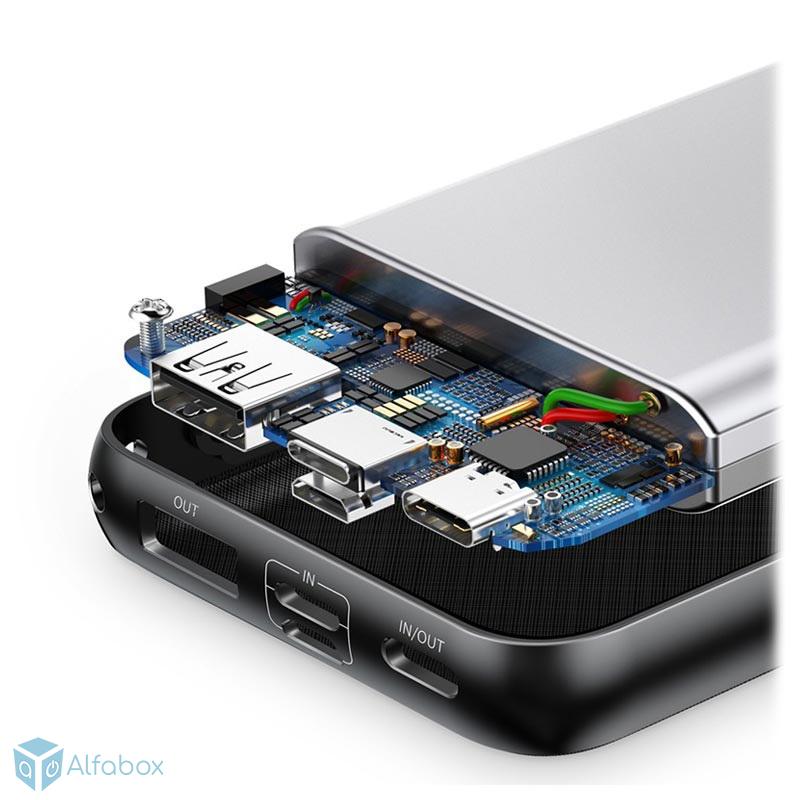 Внешний аккумулятор (Power bank) Baseus Mini Q PD Black 20000mAh (PPALL-DXQ01) купить в киеве