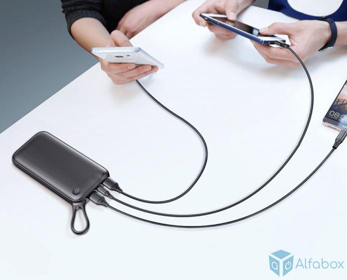 Внешний аккумулятор (Power Bank) Baseus Power Bank 20000 mAh Black (PPKC-A01) купить в киеве