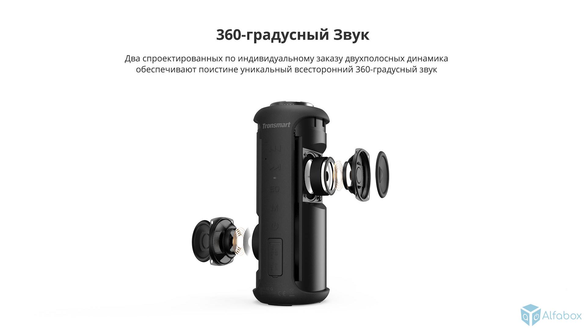 Портативная колонка Bluetooth Tronsmart Element T6 Plus Upgrade 40W regbnm